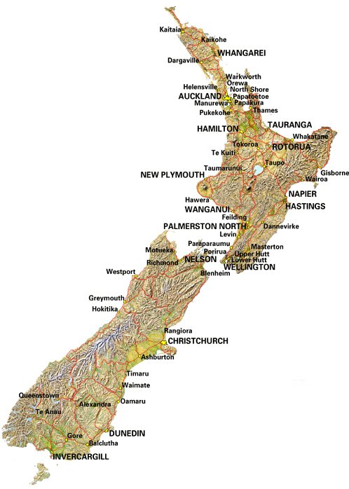 Map of Nelson New Zealand Nelson New Zealand Street Maps